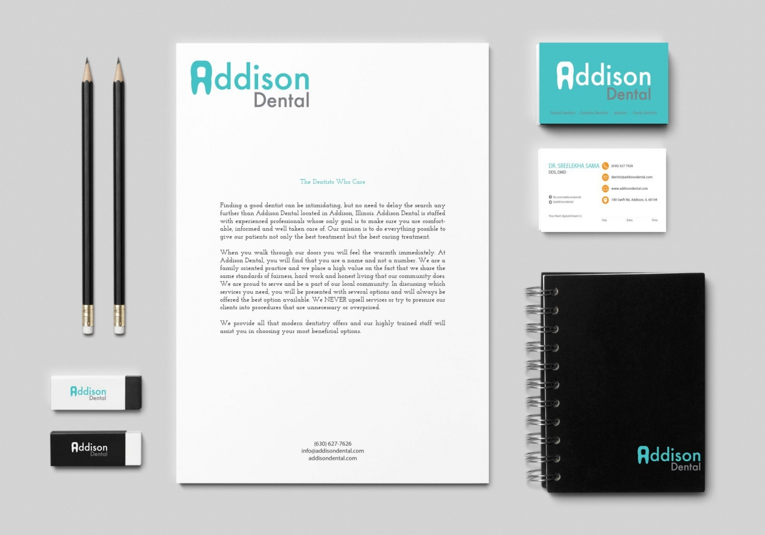 Branding Identity for Addison Dental