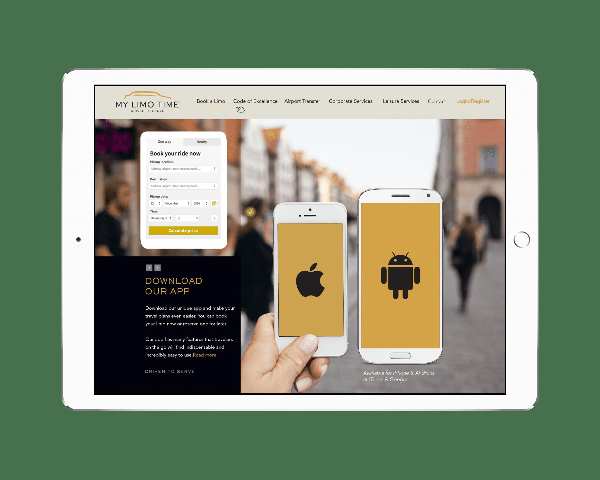 App Download & Reservations Landing Page